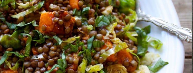 Recette végétarienne - Salade lentilles et igname