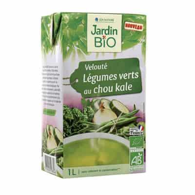 velouté légumes verts kale jardin bio