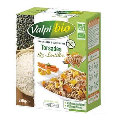 produit végétarien riz lentilles valpibio