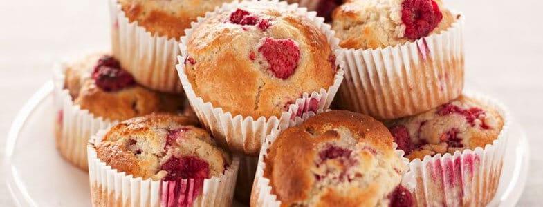 dessert vegan muffin framboises