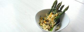 recette vegetarienne asperges mimosa