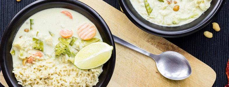 Recette végétarienne – Curry Thai
