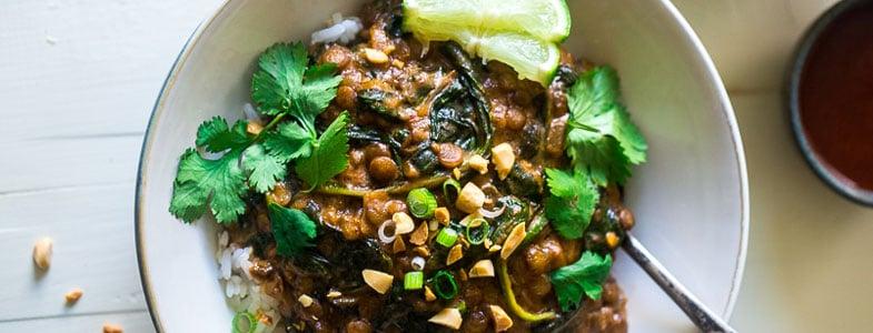 Recette végétarienne - One Pot Lentilles crémeuses aux épinards