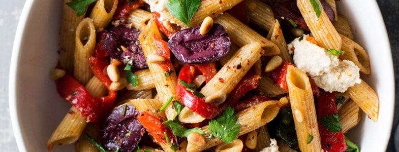 Recette végétarienne – pâtes aux poivrons pimentées