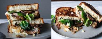 recette végétarienne sandwich champignons epinards