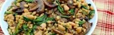 recette végétarienne orge épinards