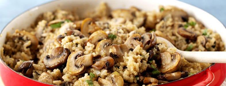 Recette végétarienne – Quinoa aux champignons
