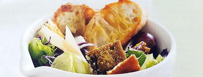 Recette végétarienne – Salade Caesar au tempeh pané