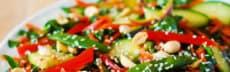 recette végétarienne salade asiatique croquante