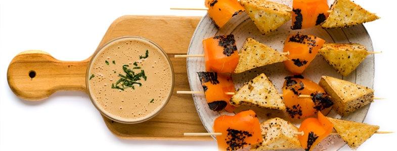 Recette végétarienne – brochettes de panisse