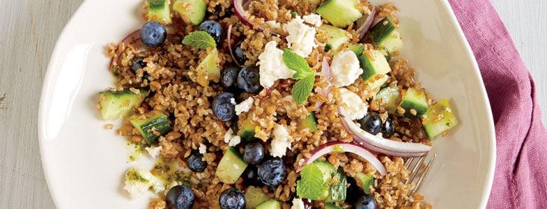 Recette végétarienne – Salade Boulgour myrtille