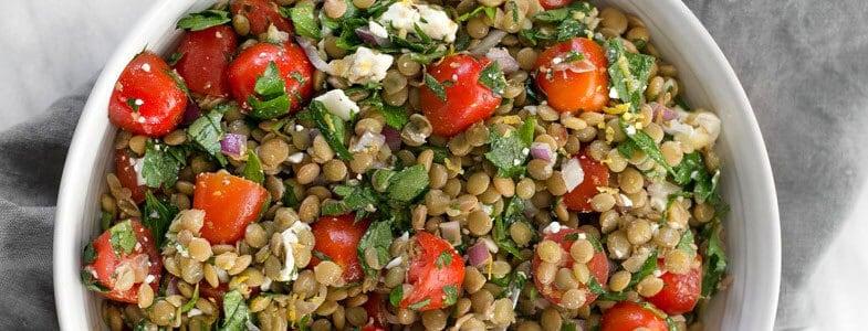 Recette végétarienne – Salade de lentilles et tomates cerises