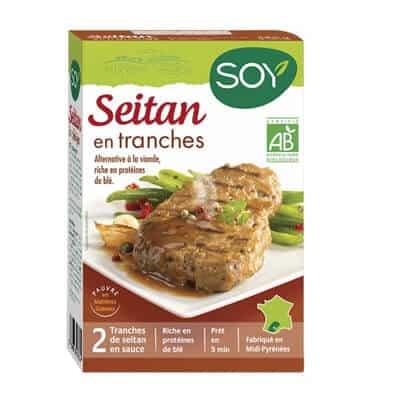 produit végétarien seitan tranches soy