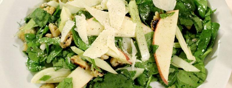 Recette végétarienne – Salade Fenouil, épinard et pommes