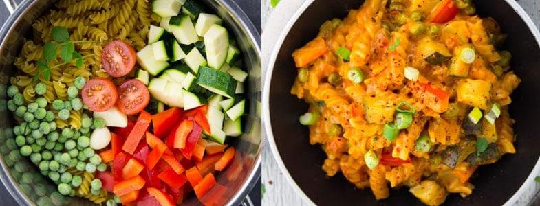 Recette végétarienne – One Pot Pasta crémeux asiatique