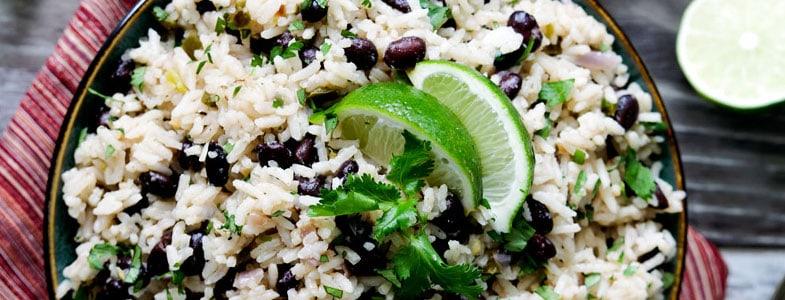 Recette végétarienne - One pot Riz, haricots noirs au citron vert