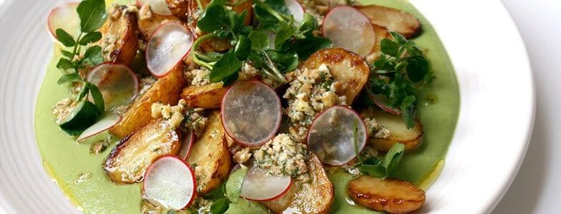 recette vegetarienne gastronomique pommes de terre estragon cresson