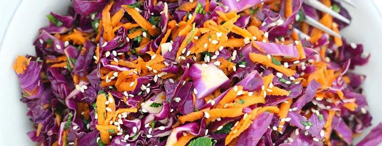 Chou rouge et carottes