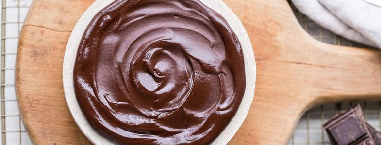Crèmes vegan au chocolat
