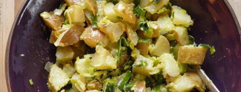 Poireaux et pommes de terre vinaigrette