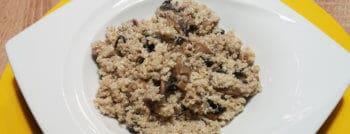 quinoa cremeux champignons