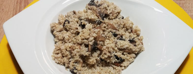 Quinoa et champignons crémeux