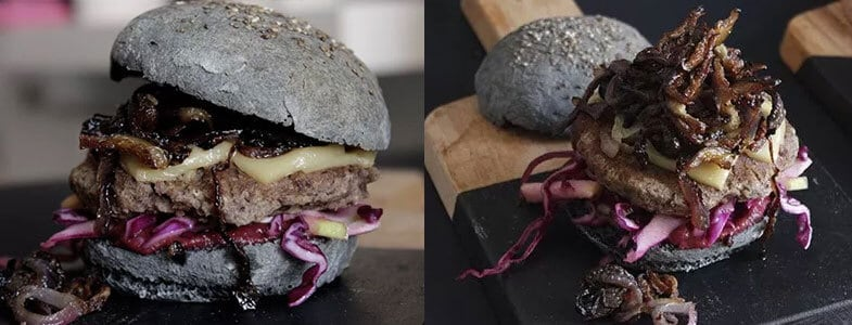 recette vegetarienne hamburger halloween