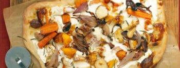 recette végétarienne pizza légumes automne ricotta