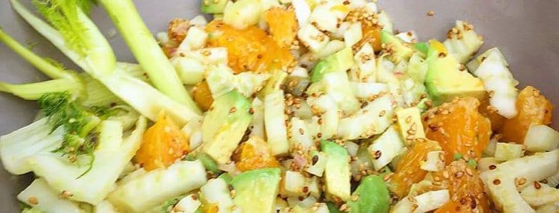 Salade fenouil, orange et avocat