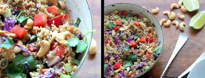 Salade asiatique quinoa et noix de cajou