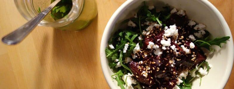 Salade betteraves, roquette et feta