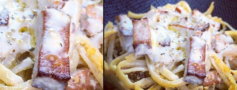 recette végétarienne spaghettis alla carbonara