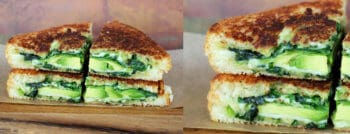 croque monsieur vegetarien vert