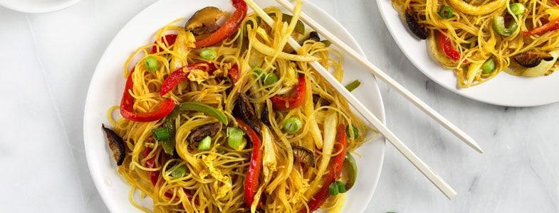 Nouilles de riz à l'asiatique