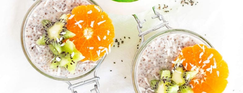 Pudding de clémentines et kiwi aux graines de chia