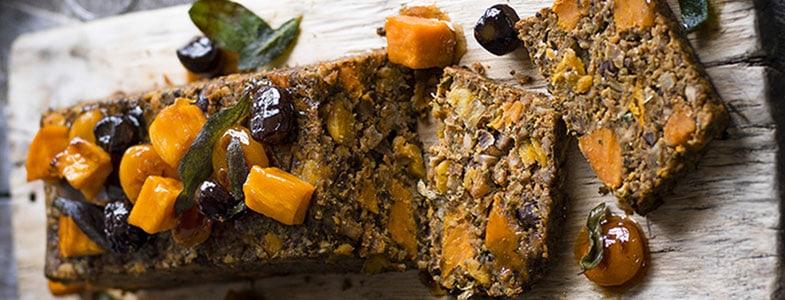 Recette végétarienne Noël – Cake aux patates douces, châtaignes et abricots
