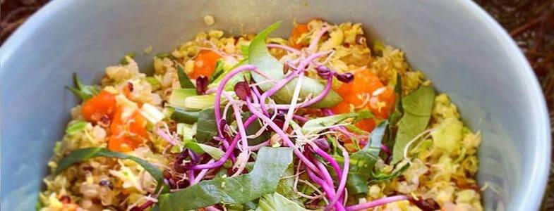 Recette végétarienne – Veggie bowl aux choux de Bruxelles