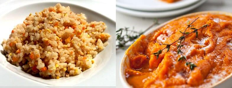 riz melo puree carottes