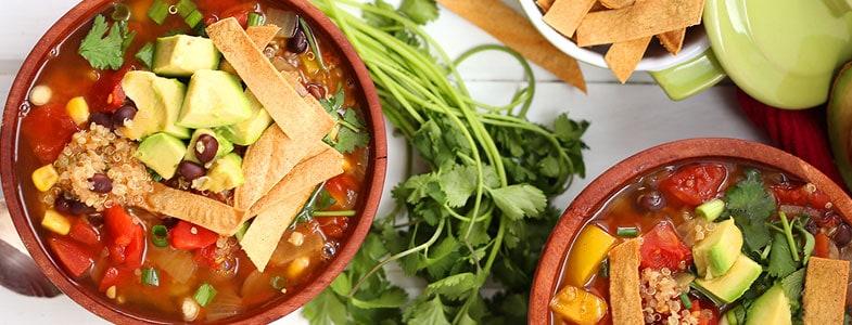 soupe tortillas quinoa