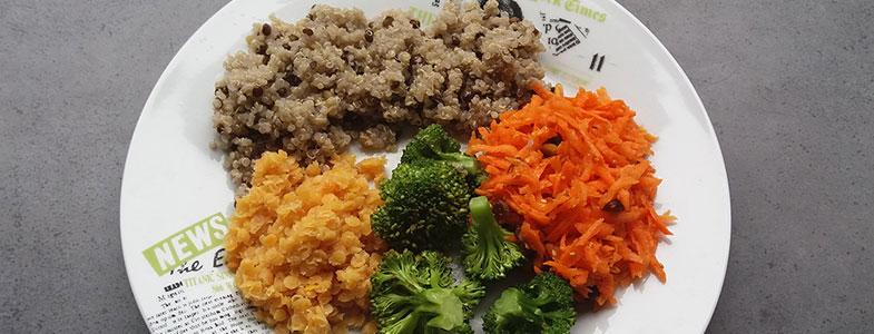 Buddha Bowl au quinoa, lentilles corail et légumes