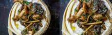 dessert noel végétarien - camembert champignons