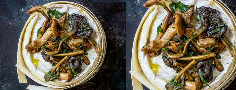 Recette végétarienne – Camembert aux champignons, à l'estragon et à la truffe