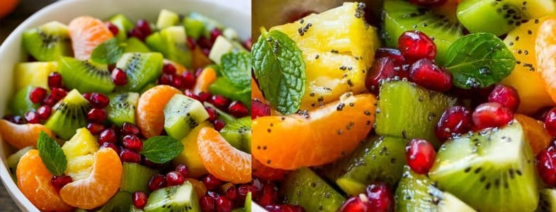 Salade de fruits d'hiver et grenade