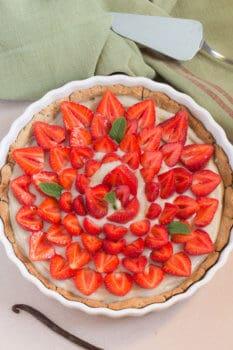 tarte fraise vegan auvertaveclili