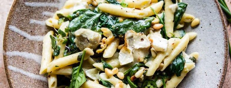 recette vegetarienne one pot pasta artichauts epinards