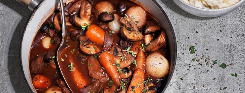 recette vegetarienne champignons bourguignon