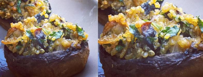 recette vegetarienne champignons farcis