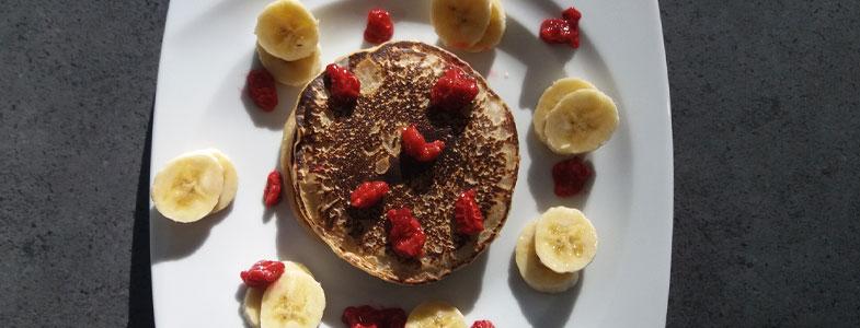 recette vegetarienne pancakes vegan bananes