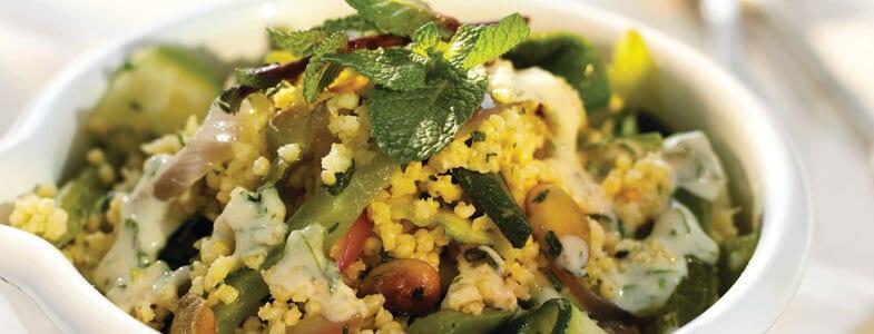 recette vegetarienne pilaf millet sauce tahin