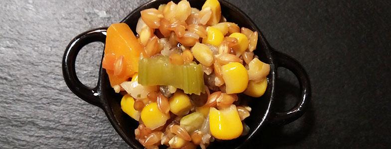Mescia de petit-épeautre au maïs